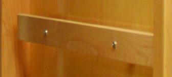 flat wood handrail