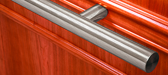round metal handrail